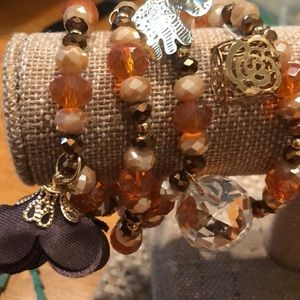 For multi colored bracelets with embellishments